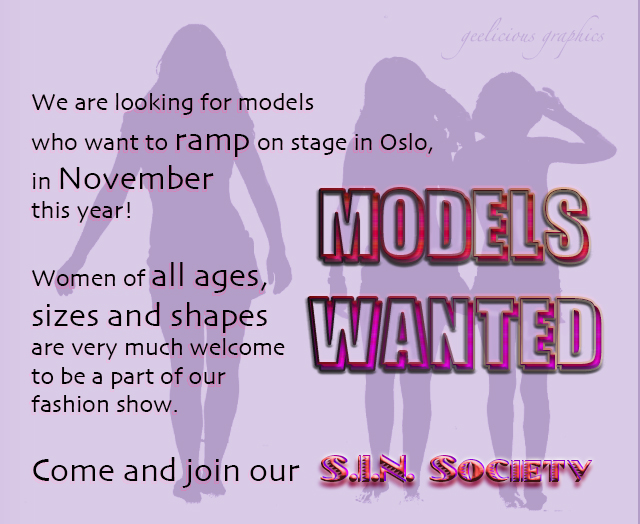 models wanted for Nov. 7, 2015